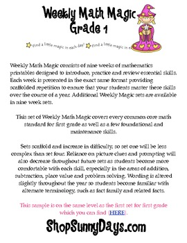 FREE Weekly Math Magic , First Grade