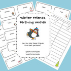 FREE Winter Friends Rhyming Words Center
