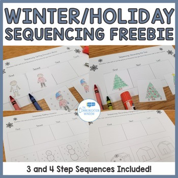 FREE Winter Sequencing Cut and Glue Worksheets