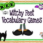 FREE! Witchy Feet Vocabulary Games