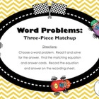 FREE Word Problem Matchup (Countdown to Christmas - Day 19)