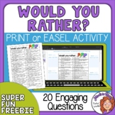 FREE Would You Rather Questions for Kids by Rachel Lynette