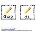 FREE dull or sharp pencil basket labels