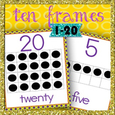 FREE ten frames (1 to 20) posters