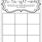 FREE-tic-tac-sight words game