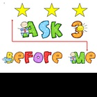 FREEBIE - Ask 3 Before Me Sign