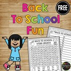 FREEBIE- Back to School Crossword Puzzle and Word Work {1s