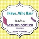 *FREEBIE* Base Ten I Have Who Has Game!