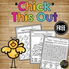 FREEBIE - Chicks Math Pages and Crossword Puzzle