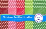 FREEBIE: Christmas Scribble Scrabble {Digi Papers}