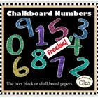 FREEBIE! Clip Art - Chalkboard Numbers
