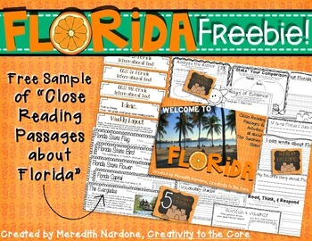 FREEBIE Close Reading Florida Sample