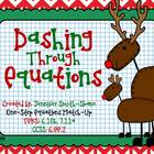 FREEBIE Dashing Through Equations (One Step Equations)