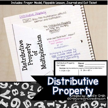 FREEBIE Distributive Property Lesson for Interactive Notebooks