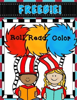 FREEBIE!  Dr. Seuss Themed Roll, Read, and Color Activitie