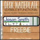 FREEBIE - Editable Desk Nameplates