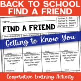 FREEBIE - Find Someone Who - Back to School - Getting to Know You