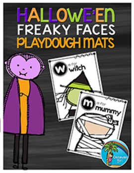 FREEBIE!  Hallowe'en Freaky Faces Playdough Mats
