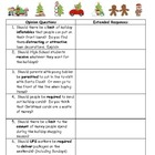 FREEBIE  Holiday Interview 'Should' Questions for Middle &