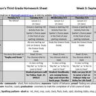FREEBIE- Homework Sheet