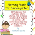 Morning Work Kindergarten FREEBIE!!!! Letters, Phonics, an