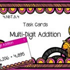 {FREEBIE} Multi-Digit Addition {Math Task Cards}