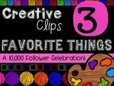 FREEBIE! My Favorite Things #3 {Creative Clips Digital Clipart}