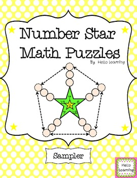 FREEBIE- Number Star Math Puzzles Sampler