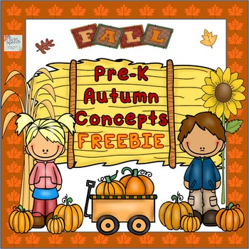 FREEBIE! Pre- K Autumn Time Concepts