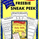 {FREEBIE SNEAK PEEK} Kindergarten Daily Skills & Review-Co