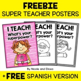 Superhero Teacher Poster Set (English & Spanish)
