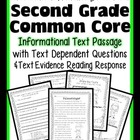 FREEBIE: 2nd Grade R.I. Passage {Common Core Aligned Asses