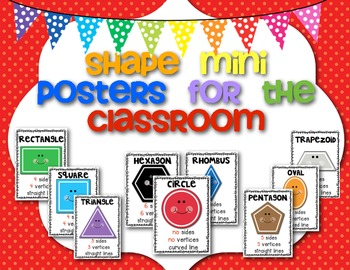 FREEBIE! Shapes (Mini Posters) for the Primary Classroom
