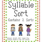 {FREEBIE} Syllable Sort! A Cut & Paste Activity