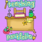 FREEBIE - Teaching Portfolio Cover Page and Spine