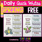 WRITING - Spring Quick Writes FREEBIE