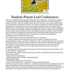 ~FREEBIE~Student Parent Led Goal Setting Report Card Conferences