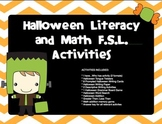 FRENCH - Halloween FSL Activities