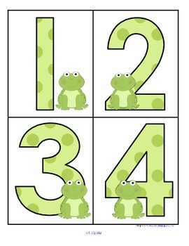 FROGS Large Numbers 0-20 plus 10-frames