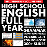 FULL YEAR of English Class Vocabulary, Grammar, and Litera