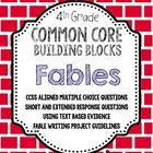 Fables {Common Core Building Blocks} Comprehension Questio