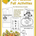 Fabulous Fall Activities for Grades Pre-k-4th