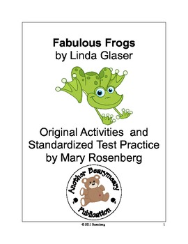 Fabulous Frogs Original Activities and Standardized Test Practice