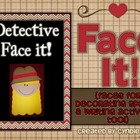 Face It - Detective {Faces for Decorating Spaces & Writing