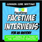 FaceTime Interview US History Activity Bundle