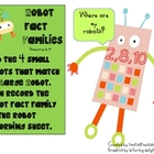 Fact Families Numbers up to 20- Robots
