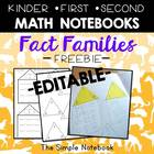 Math Journals: Fact Families