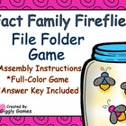 Fact Family Fireflies File Folder Game