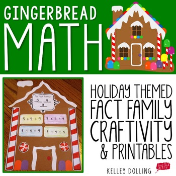 Fact Family Houses - Gingerbread Math Craftivity