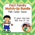 Fact Family Match Up Bundle
